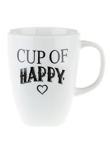 Morhipo Home Cup Of Happy - Çift Taraflı Kupa Beyaz